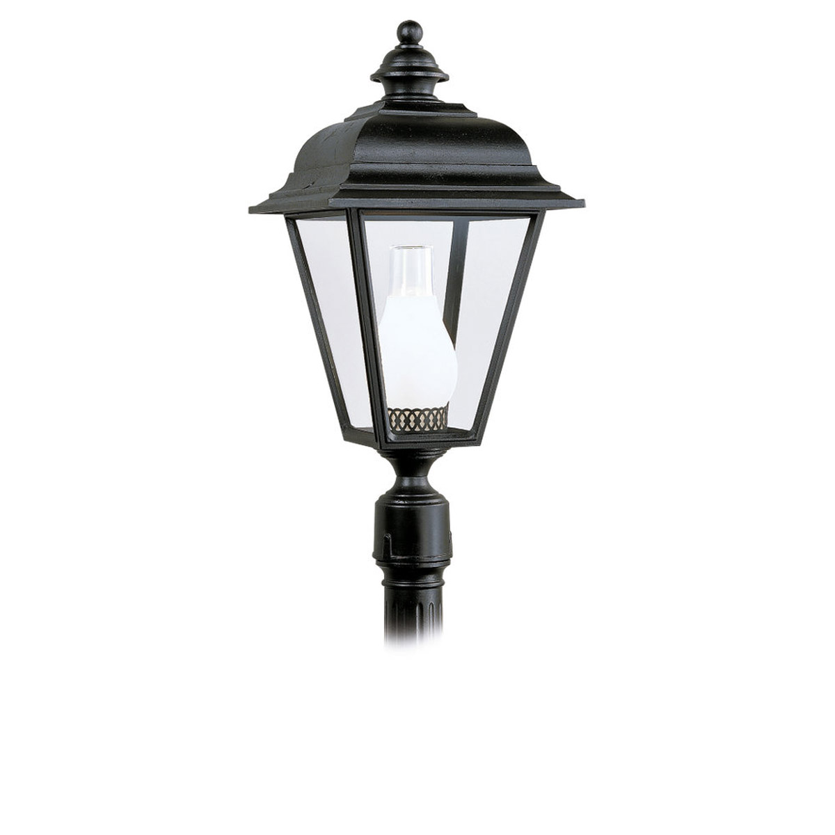 Sea Gull Lighting Bancroft 1 Light Outdoor Post Lantern in Black 8216-12
