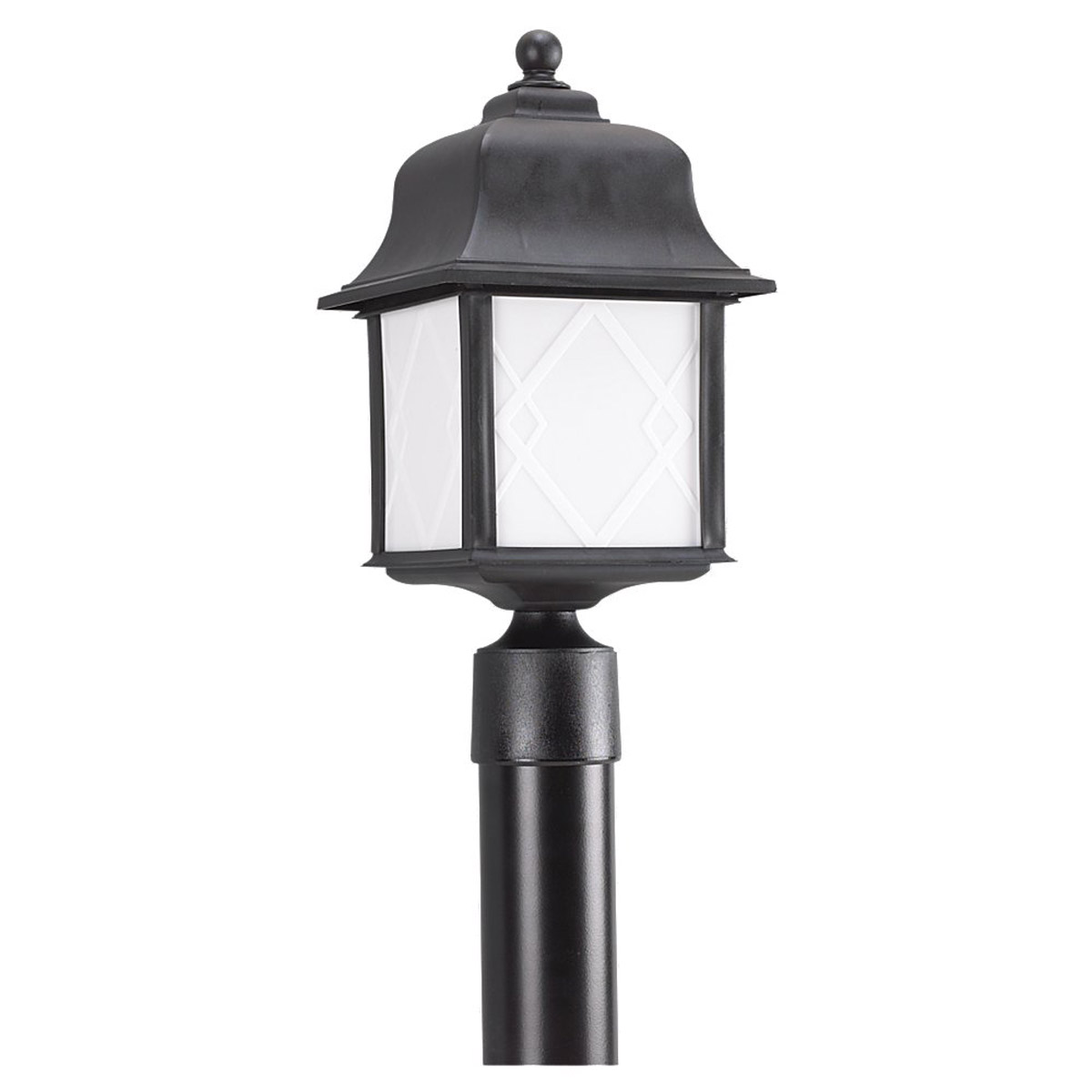 Sea Gull Lighting Harbor Point 1 Light Post Lantern in Black 82192BL-12 photo