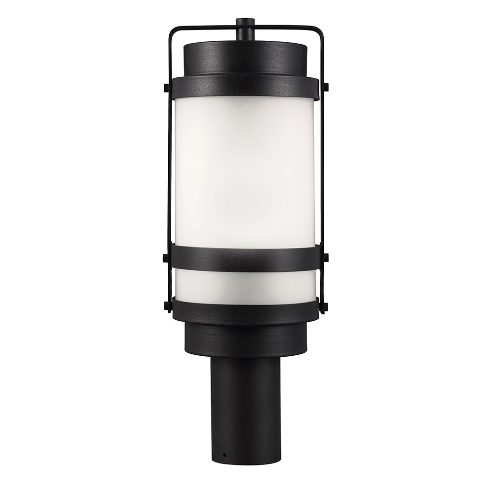 Sea Gull Bucktown 1 Light Post Lantern in Black 8222401BL-12