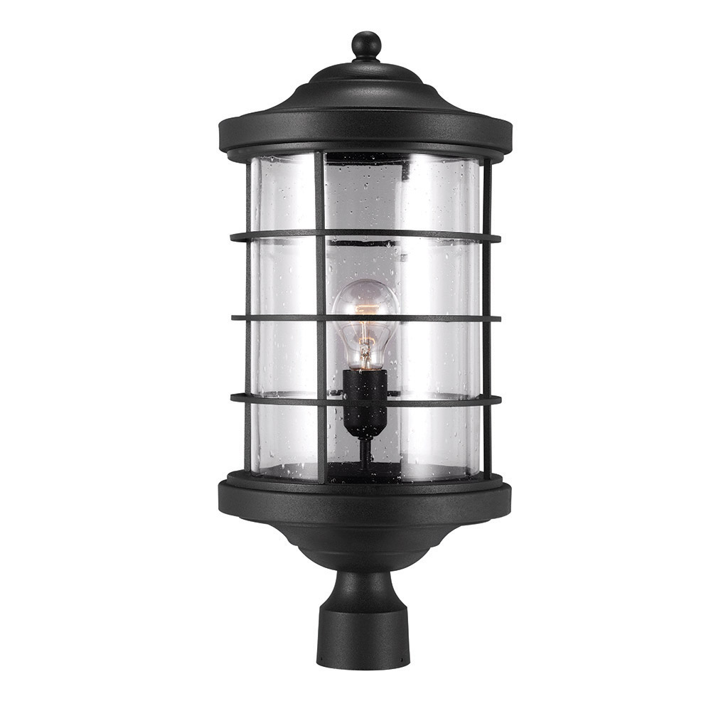 Sea Gull 8224401-12 Sauganash 1 Light 22 inch Black Post Lantern photo