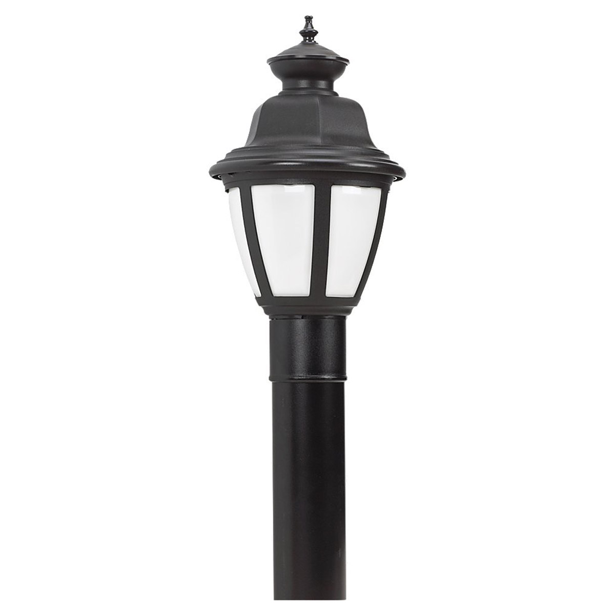 Sea Gull Lighting Belmar 1 Light Post Lantern in Black 82390BL-12
