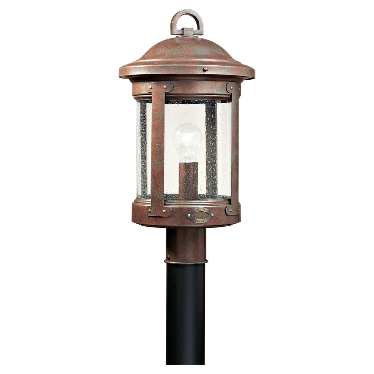 Sea Gull 8241-44 HSS CO-OP 1 Light 20 inch Weathered Copper Outdoor Post Lantern photo