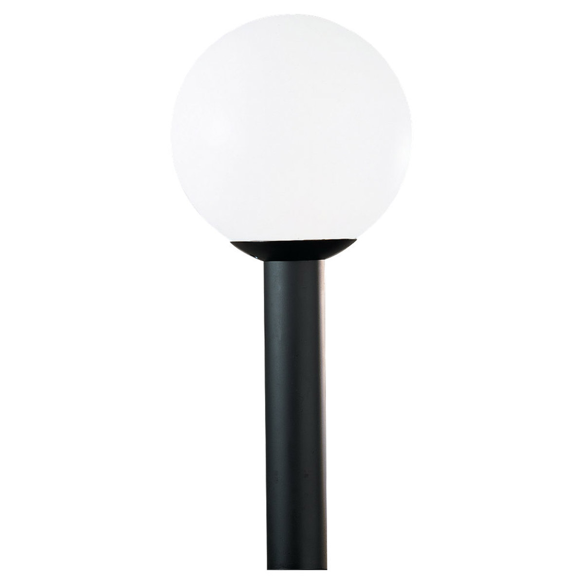 Sea Gull 8252 68 Outdoor Globe 1 Light 13 Inch White Plastic Post Lantern