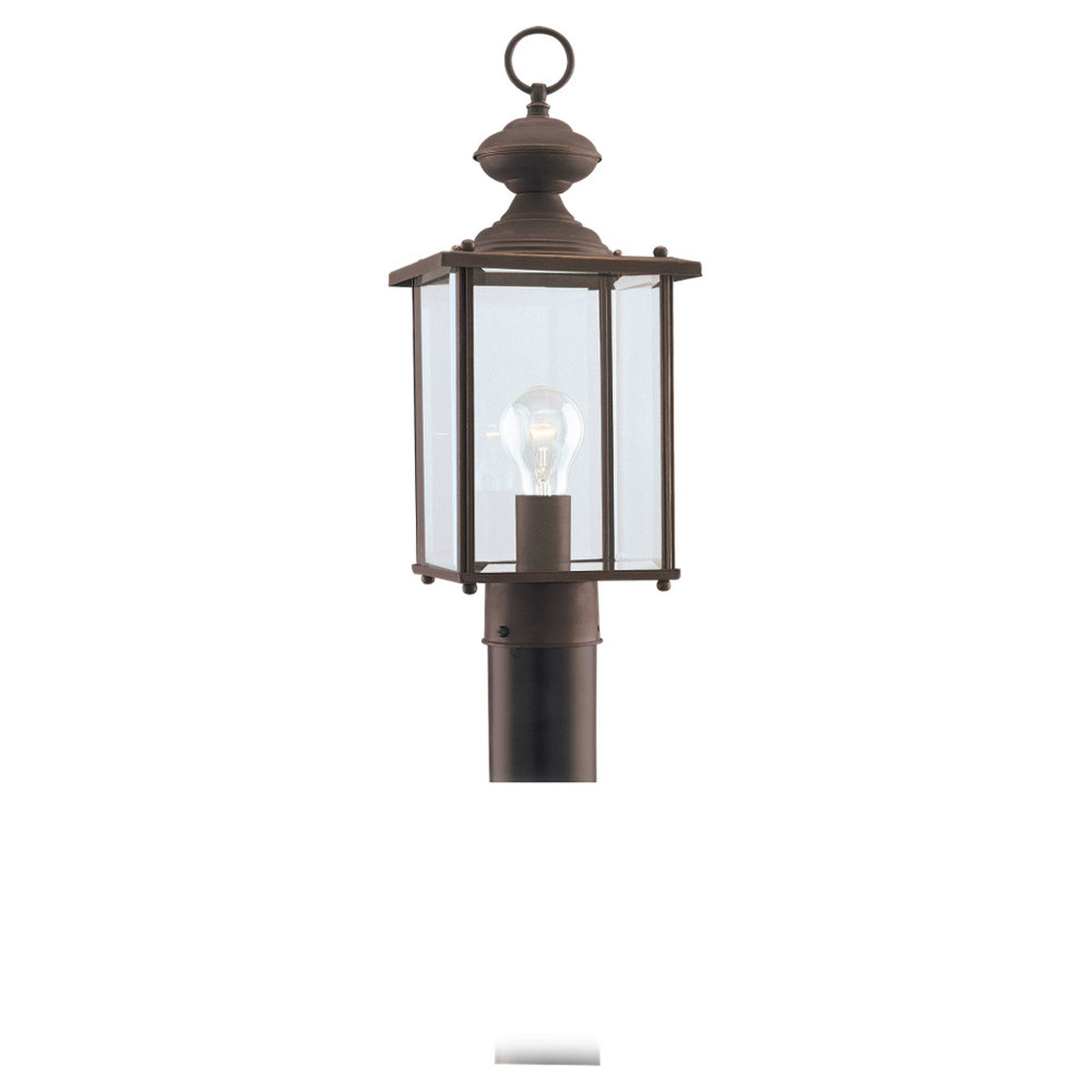 Sea Gull Lighting Jamestowne 1 Light Outdoor Post Lantern in Antique Bronze 8257-71