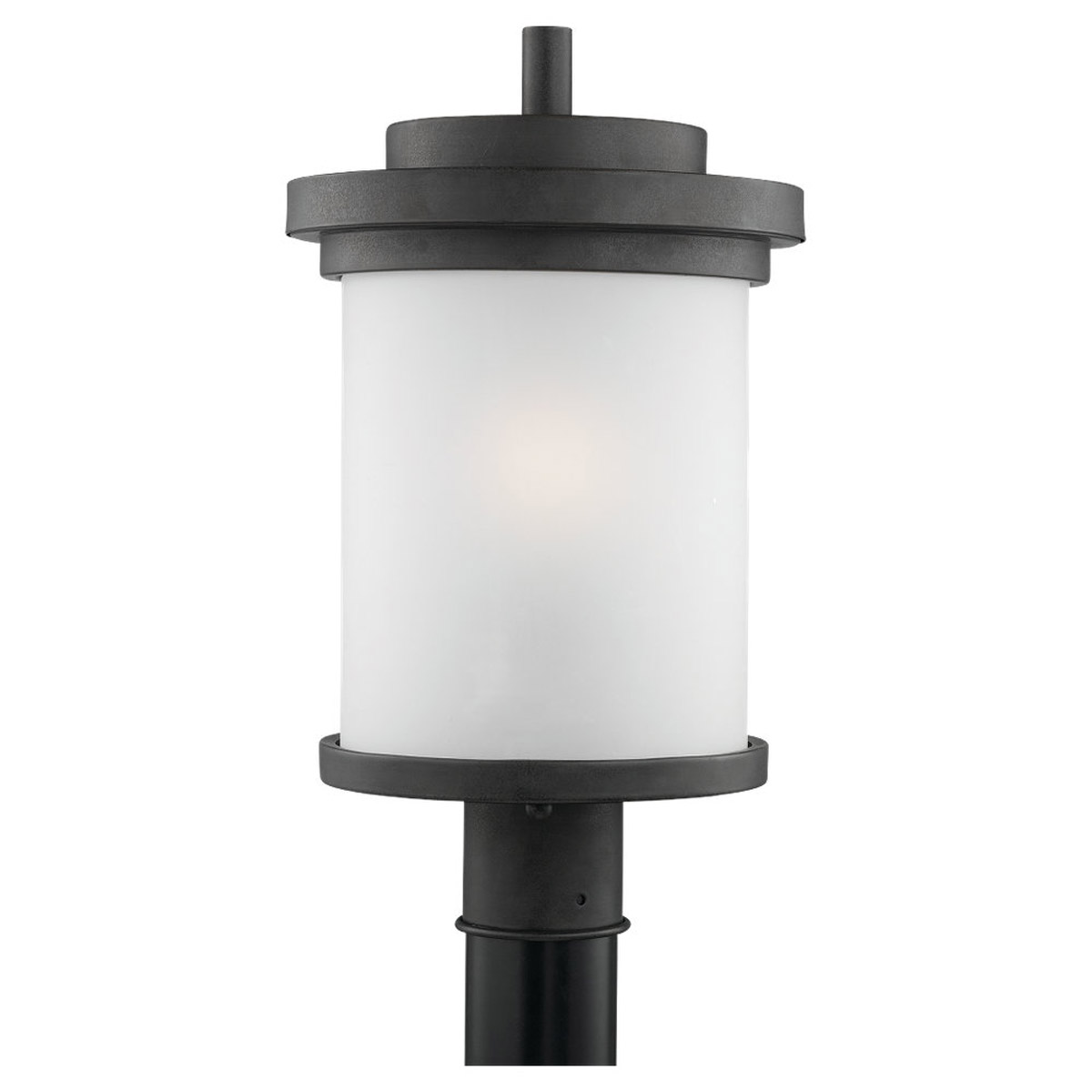 Sea Gull Lighting Winnetka 1 Light Outdoor Post Lantern in Forged Iron 82660-185