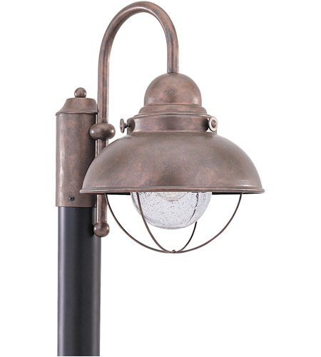 Sea Gull 8269-44 Sebring 1 Light 16 inch Weathered Copper Outdoor Post Lantern photo