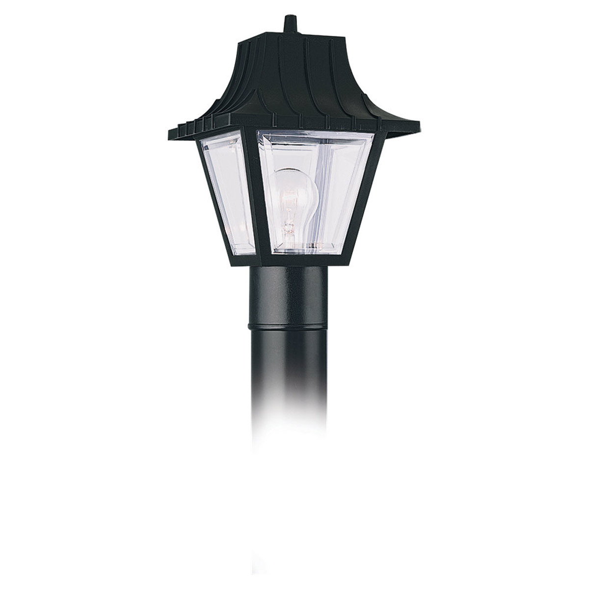 Sea Gull 8275-32 Painted Polycarbonate Lanterns 1 Light 11 inch Clear Outdoor Post Lantern photo