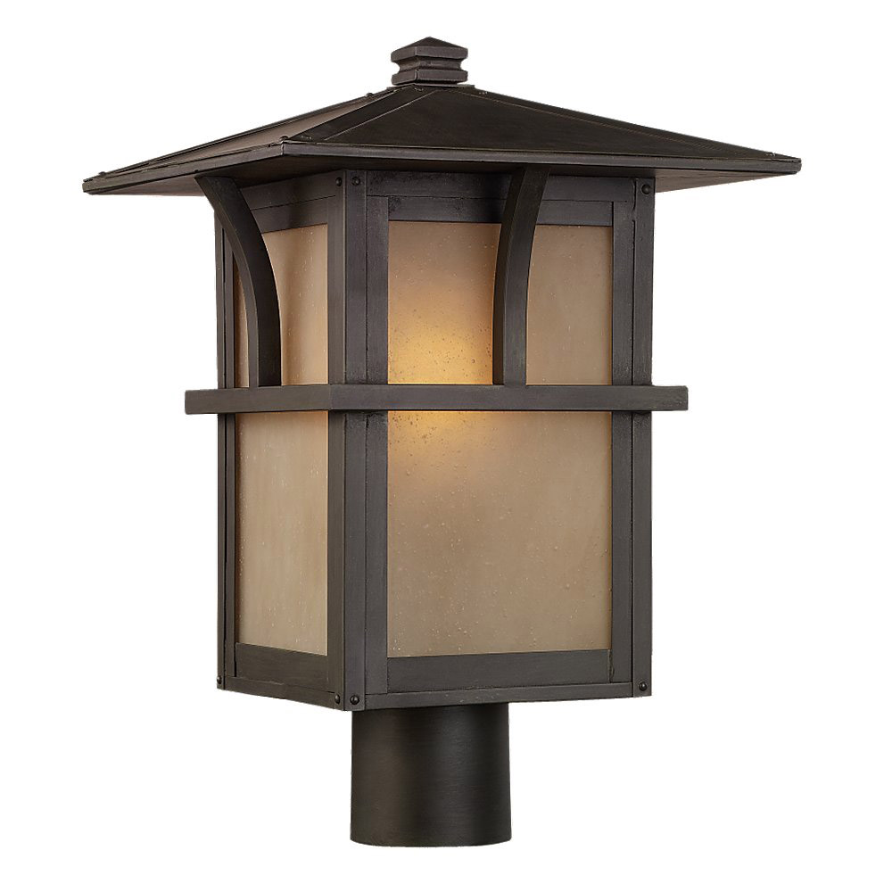 Sea Gull Lighting Medford Lakes Outdoor Post Lantern in Statuary Bronze 82880BL-51