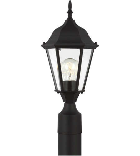 Sea Gull Lighting Bakersville 1 Light Outdoor Post Lantern in Black 82938-12