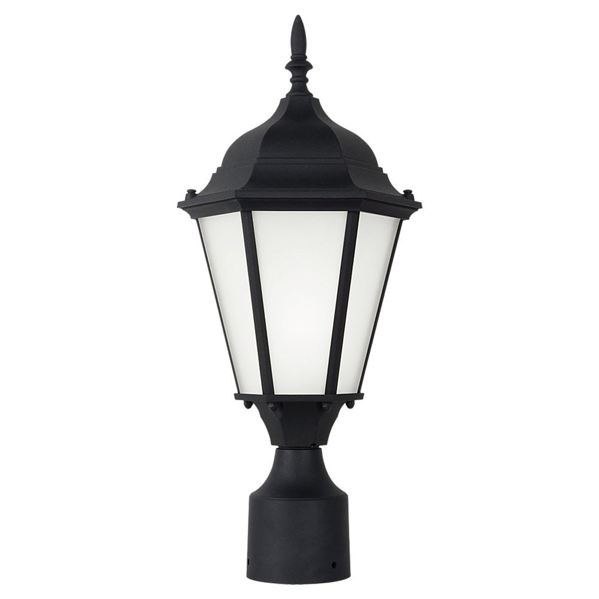 Sea Gull Lighting Bakersville 1 Light Outdoor Post Lantern in Black 82938BL-12
