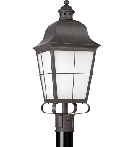 Sea Gull 82973BL-46 Chatham 1 Light 23 inch Oxidized Bronze Outdoor Post Lantern in No Photocell photo
