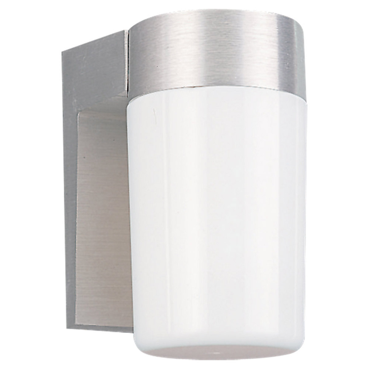 Sea Gull Lighting Signature 1 Light Outdoor Wall Lantern in Satin Aluminum 8301-04