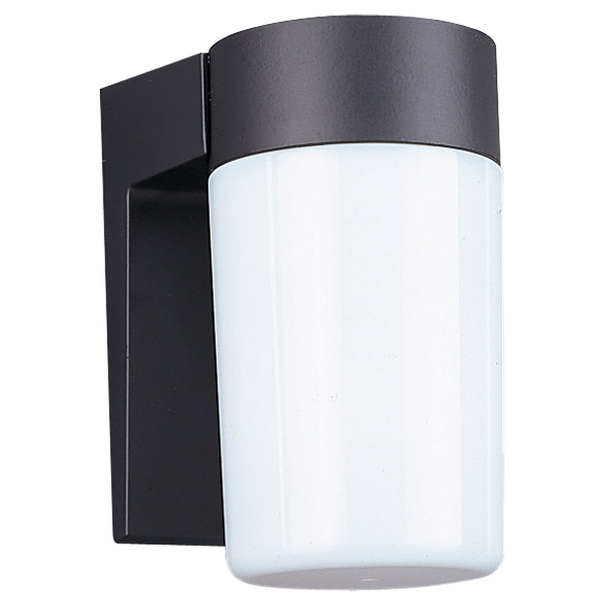 Sea Gull Lighting Signature 1 Light Outdoor Wall Lantern in Black 8301-12