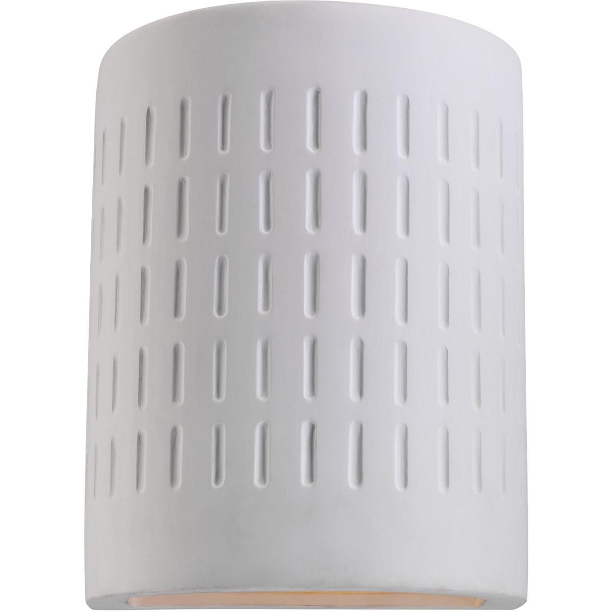 Sea Gull Lighting Paintable Ceramic Sconces 1 Light Outdoor Wall Lantern in Unfinish Ceramic 83046-714 photo