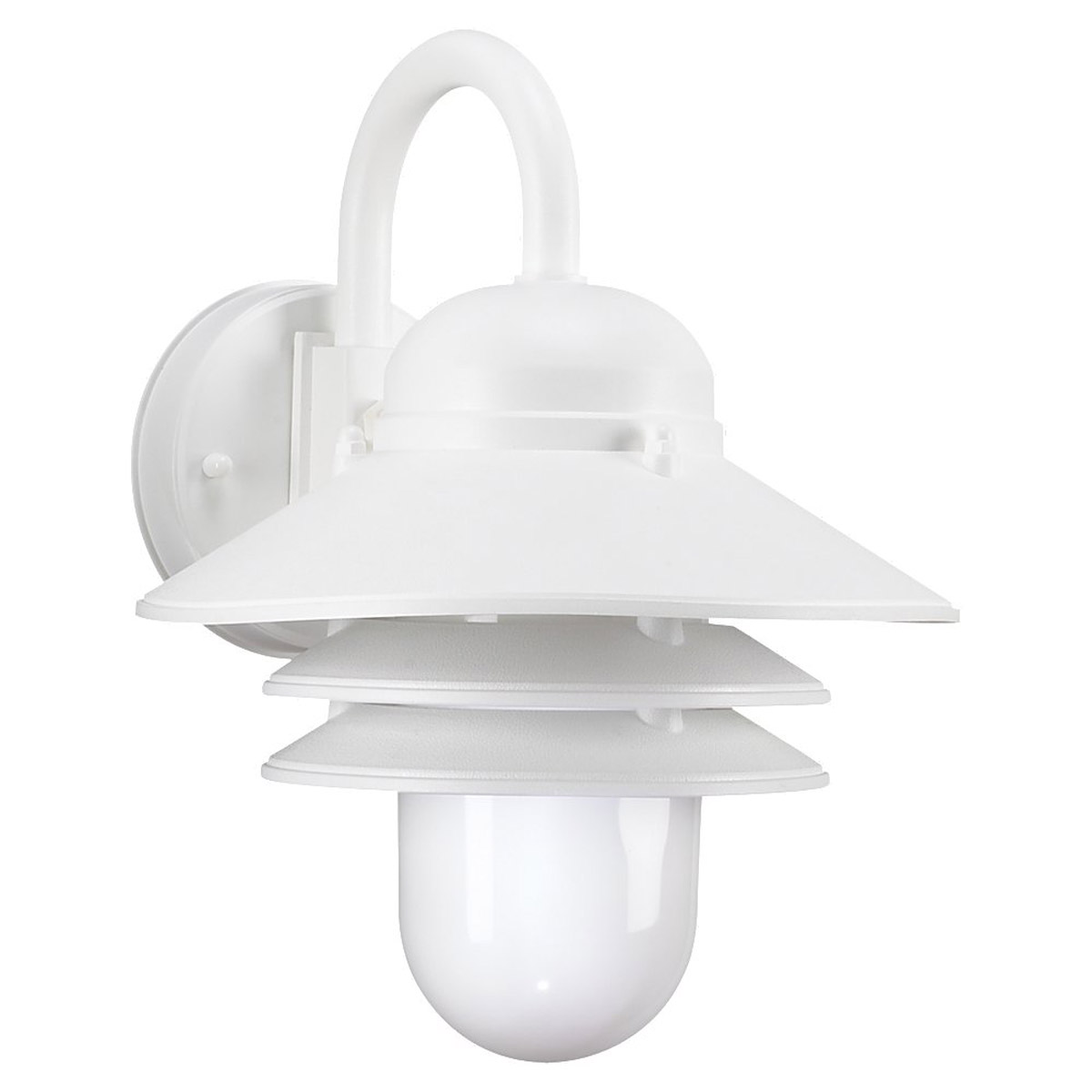 Sea Gull 83055BLE-15 Nautical 1 Light 13 inch White Outdoor Wall Lantern in Fluorescent photo