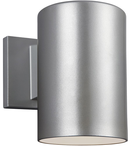 Sea Gull 8313801-753 Bullets 1 Light 7 inch Painted Brushed Nickel Outdoor Wall Sconce photo