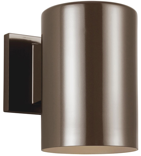 Sea Gull 8313897S-10 Cylinders LED 7 inch Bronze Outdoor Wall Lantern photo