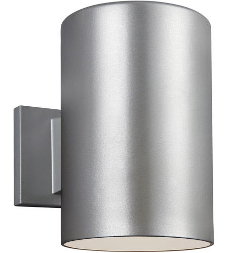Sea Gull 8313901-753 Bullets 1 Light 9 inch Painted Brushed Nickel Outdoor Wall Sconce photo