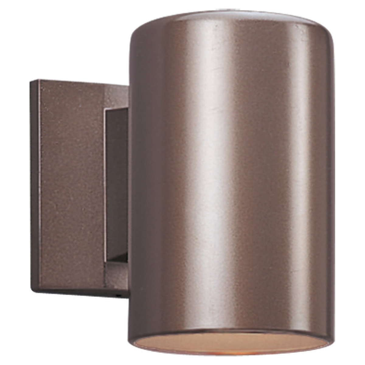 Sea Gull Lighting Outdoor Bullets 1 Light Outdoor Wall Lantern in Bronze 8339-10