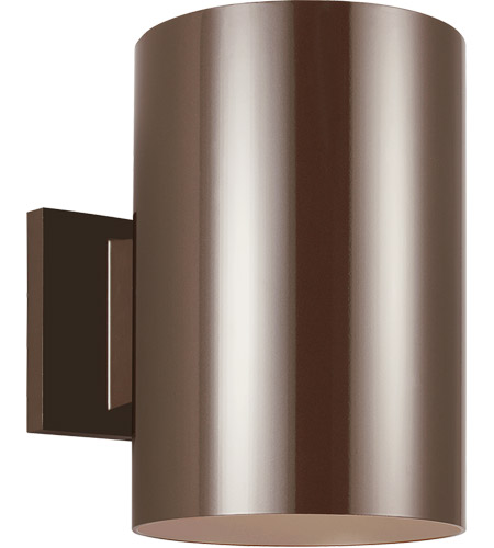 Sea Gull Lighting Outdoor Bullets 2 Light Outdoor Wall Lantern in Bronze 8340-10