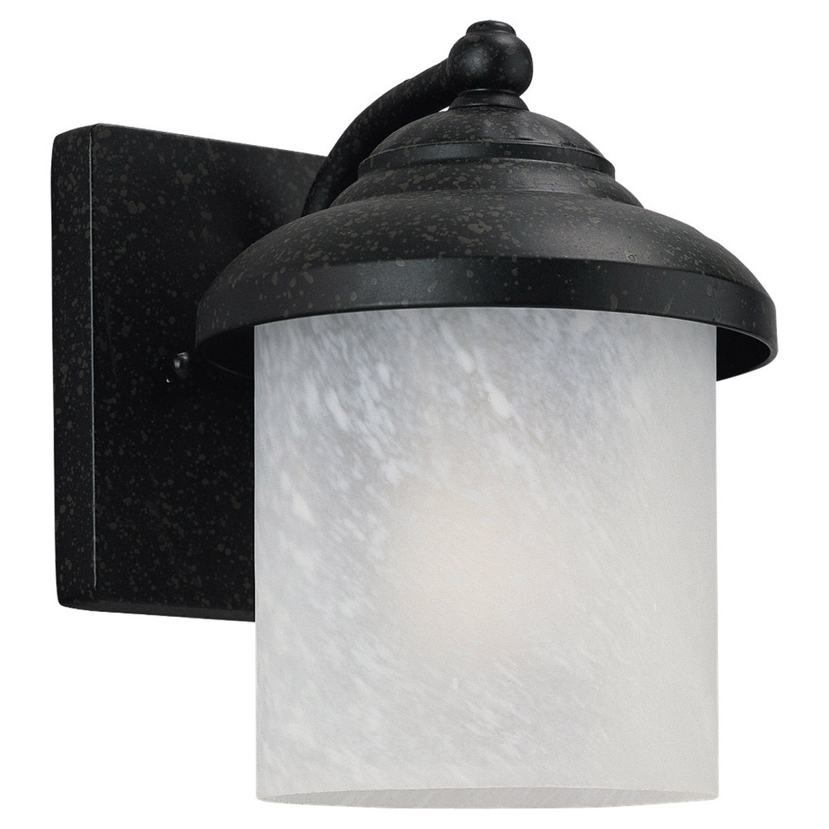 Sea Gull 84048-185 Yorktowne 1 Light 8 inch Forged Iron Outdoor Wall Lantern photo