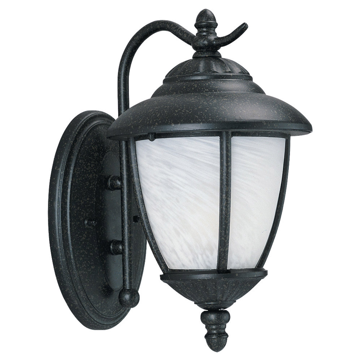 Sea Gull 84049-185 Yorktowne 1 Light 13 inch Forged Iron Outdoor Wall Lantern photo