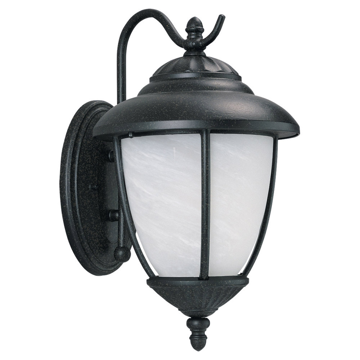 Sea Gull Lighting Yorktown 1 Light Outdoor Wall Lantern in Forged Iron 84050-185