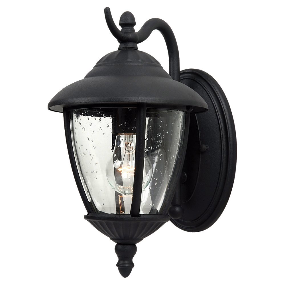 Sea Gull 84069-12 Lambert Hill 1 Light 13 inch Black Outdoor Wall Lantern photo