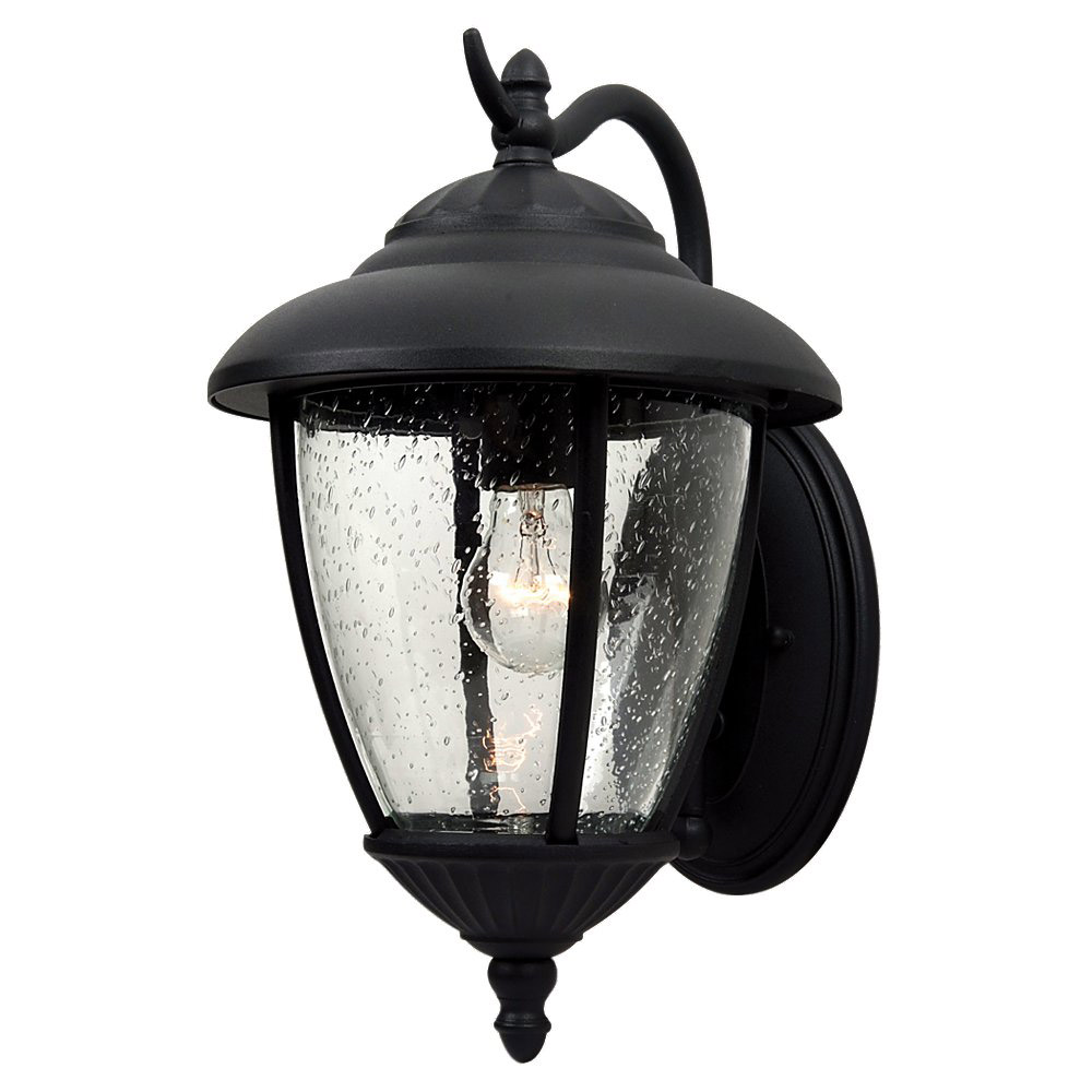 Sea Gull 84070-12 Lambert Hill 1 Light 16 inch Black Outdoor Wall Lantern photo