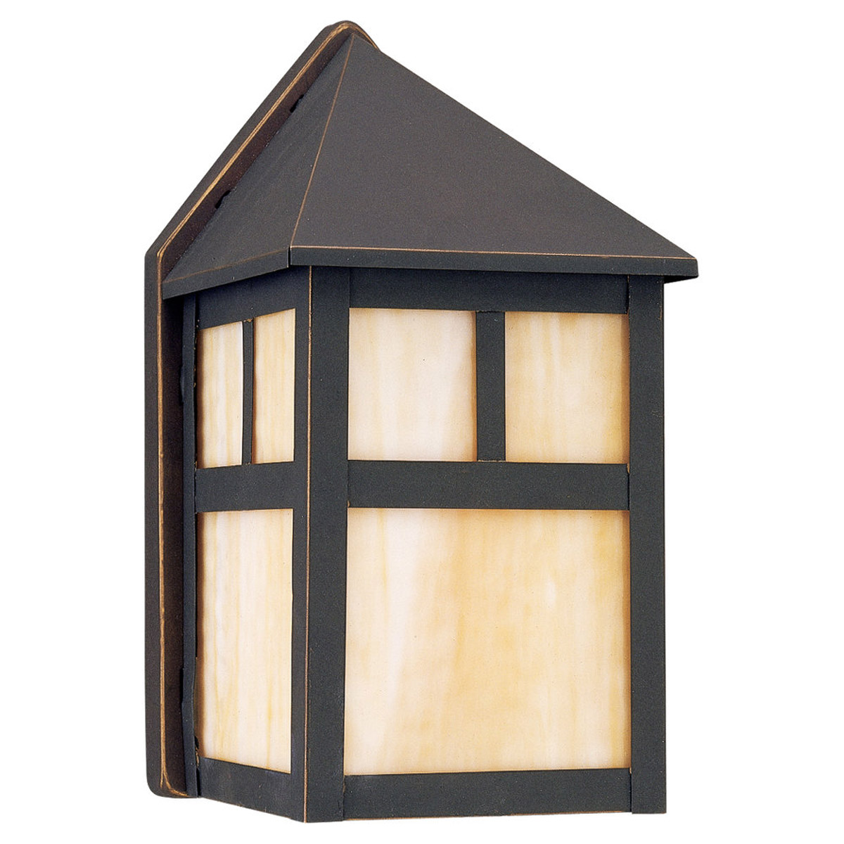 Sea Gull Lighting Prairie Statement 1 Light Outdoor Wall Lantern in Antique Bronze 8408-71 photo