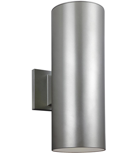Sea Gull 8413897S-753 Cylinders LED 14 inch Painted Brushed Nickel Outdoor Wall Lantern photo