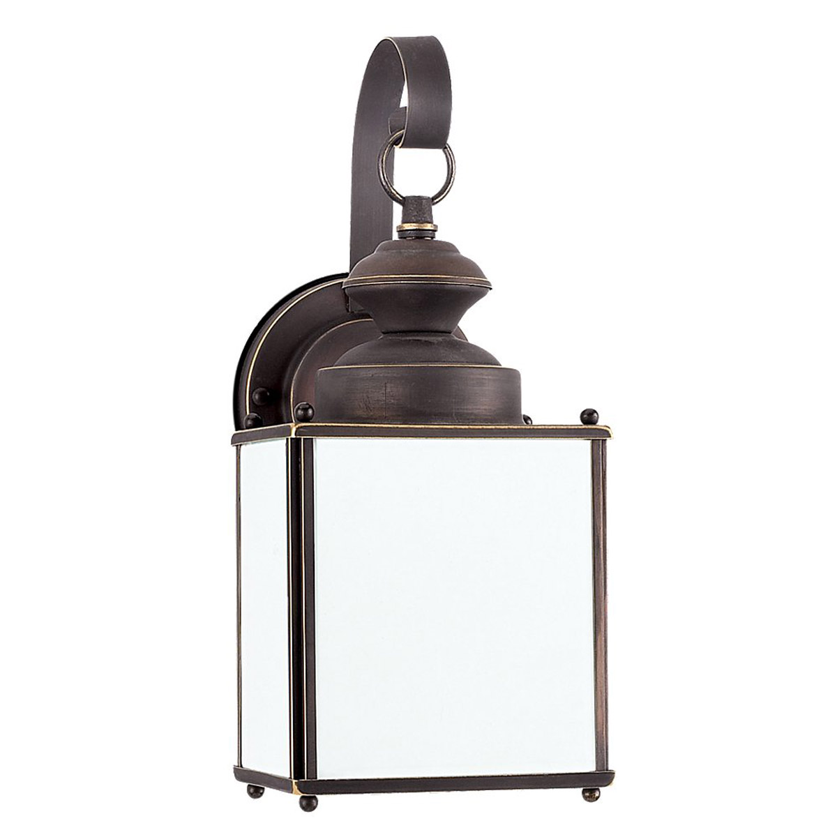 Sea Gull Lighting Jamestowne 1 Light Dark Sky Outdoor Wall Lantern in Antique Bronze 84157D-71