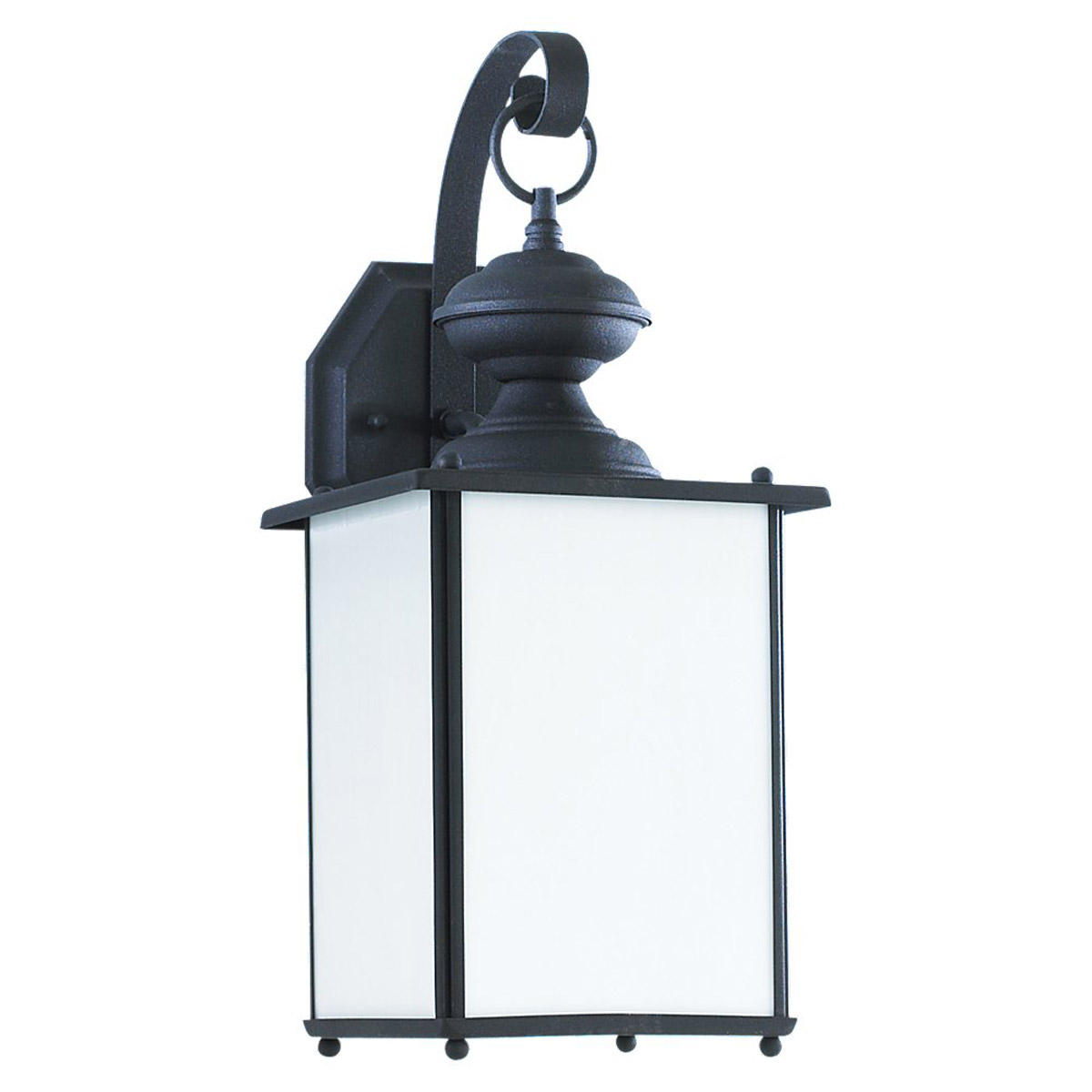 Sea Gull Lighting Jamestowne 1 Light Dark Sky Outdoor Wall Lantern in Black 84158D-12