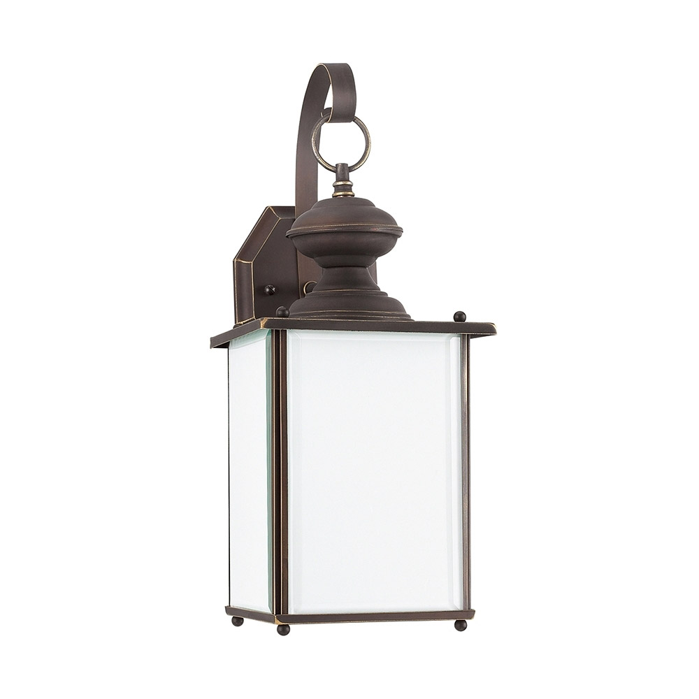 Sea Gull Lighting Jamestowne 1 Light Dark Sky Outdoor Wall Lantern in Antique Bronze 84158D-71