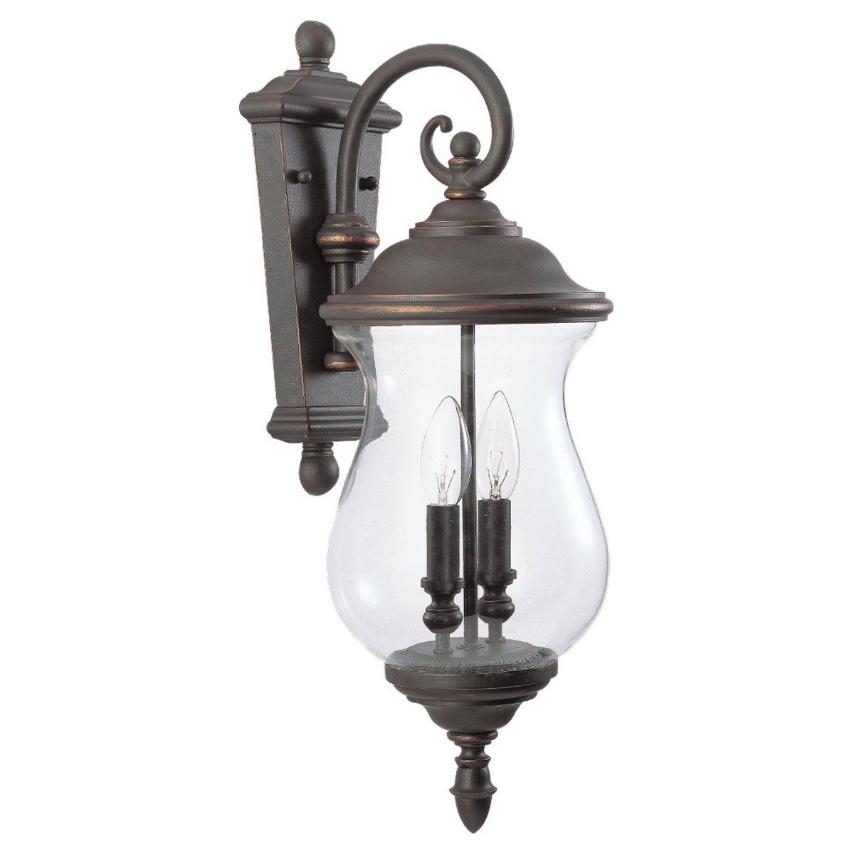 Sea Gull Lighting Triumphant 2 Light Outdoor Wall Lantern in Mojave Luster 84226-764 photo