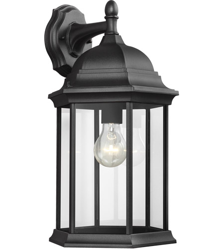 Sea Gull 8438701-12 Sevier 1 Light 19 inch Black Outdoor Wall Lantern photo