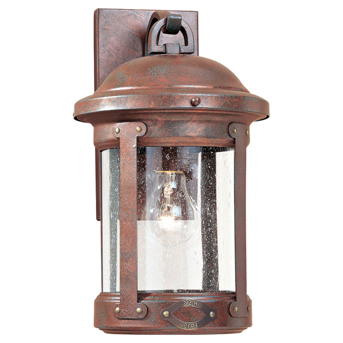 Sea Gull 8440-44 HSS CO-OP 1 Light 14 inch Weathered Copper Outdoor Wall Lantern photo