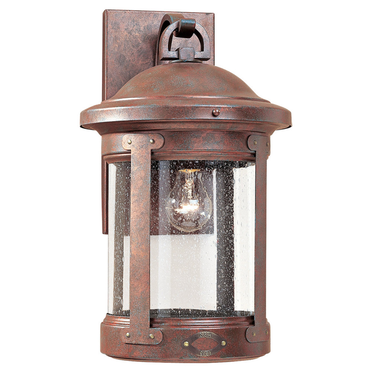 Sea Gull 8441-44 HSS CO-OP 1 Light 18 inch Weathered Copper Outdoor Wall Lantern photo