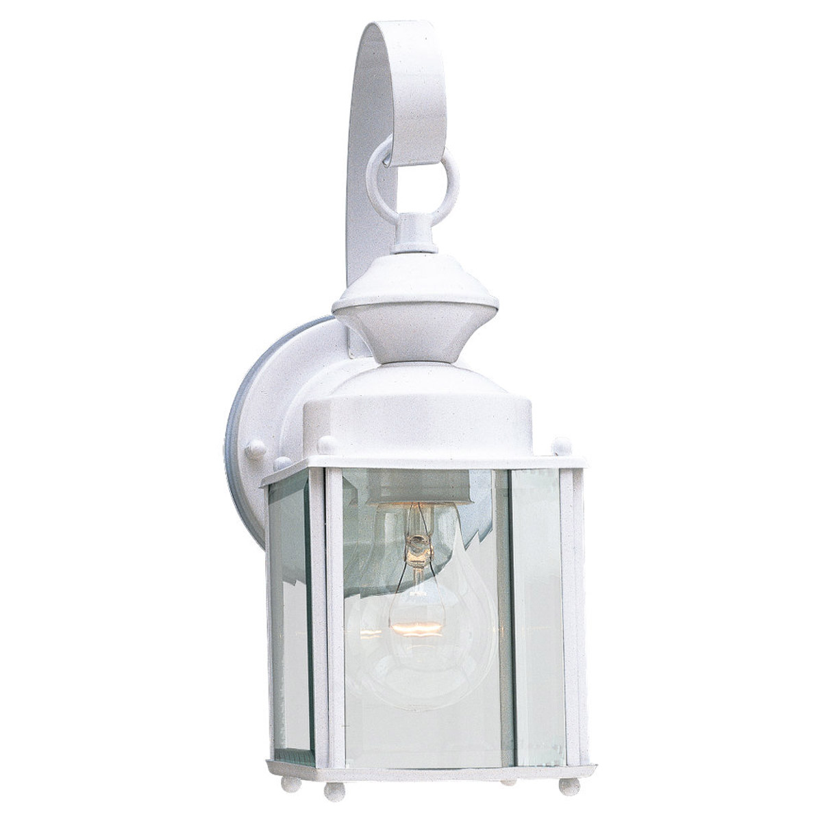 Sea Gull Lighting Jamestowne 1 Light Outdoor Wall Lantern in White 8456-15