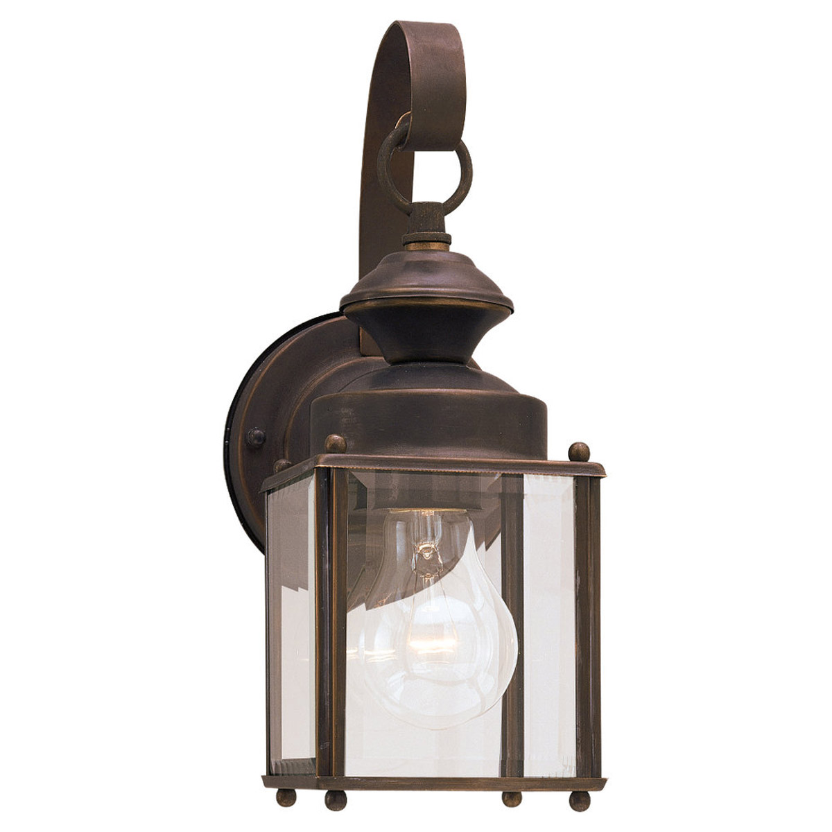 Sea Gull Lighting Jamestowne 1 Light Outdoor Wall Lantern in Antique Bronze 8456-71