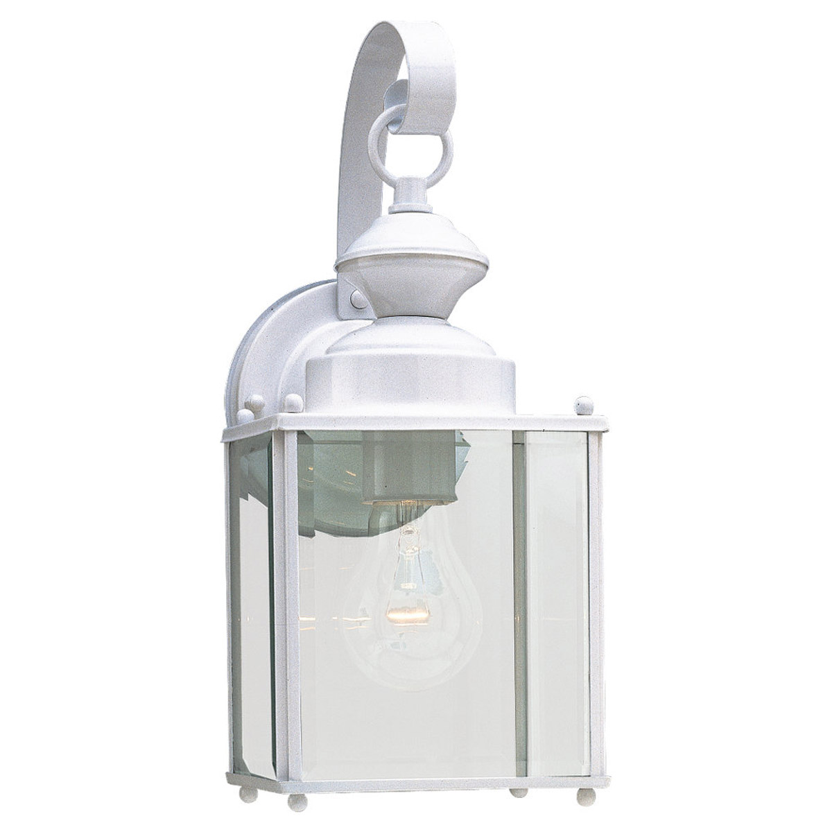 Sea Gull Lighting Jamestowne 1 Light Outdoor Wall Lantern in White 8457-15