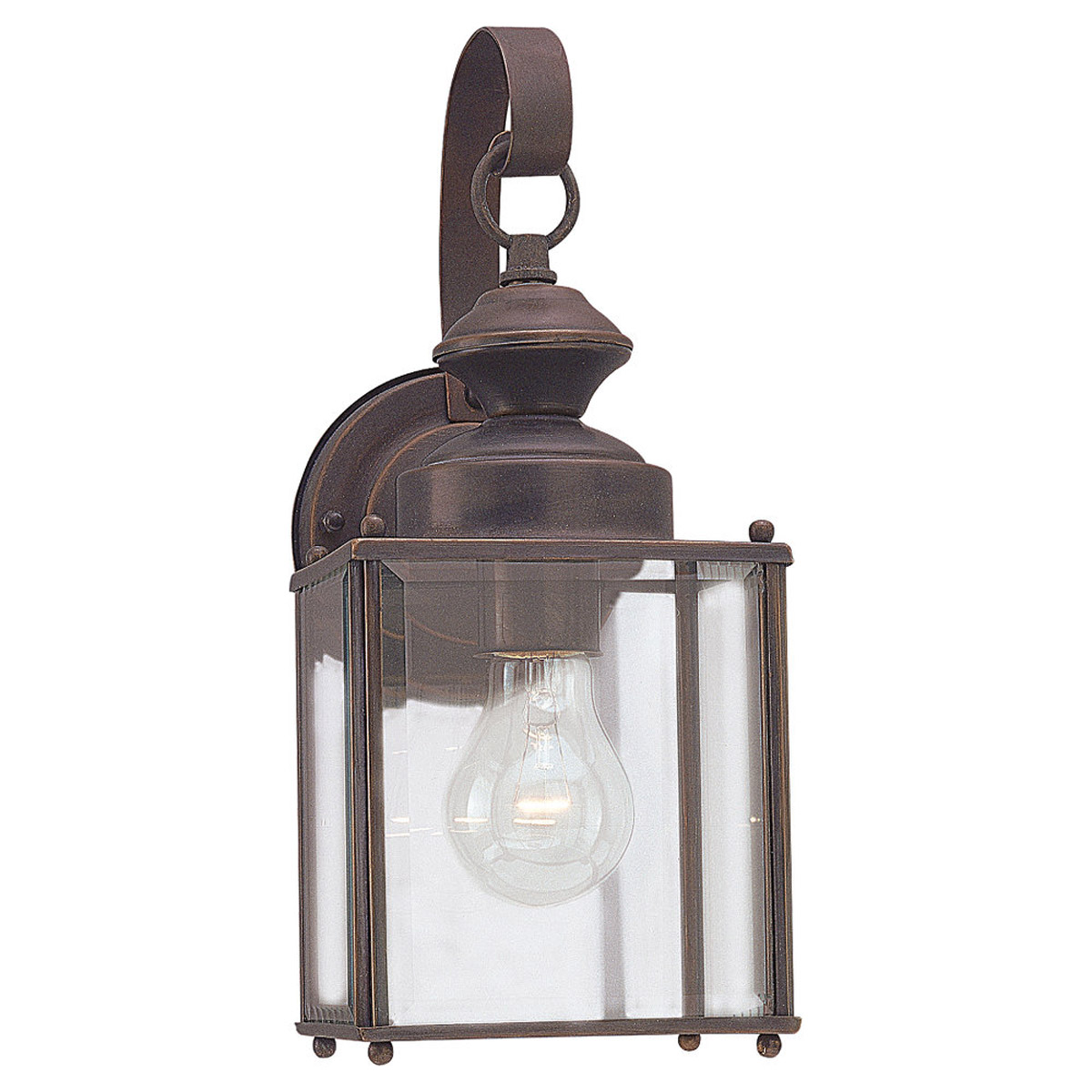 Sea Gull Lighting Jamestowne 1 Light Outdoor Wall Lantern in Antique Bronze 8457-71