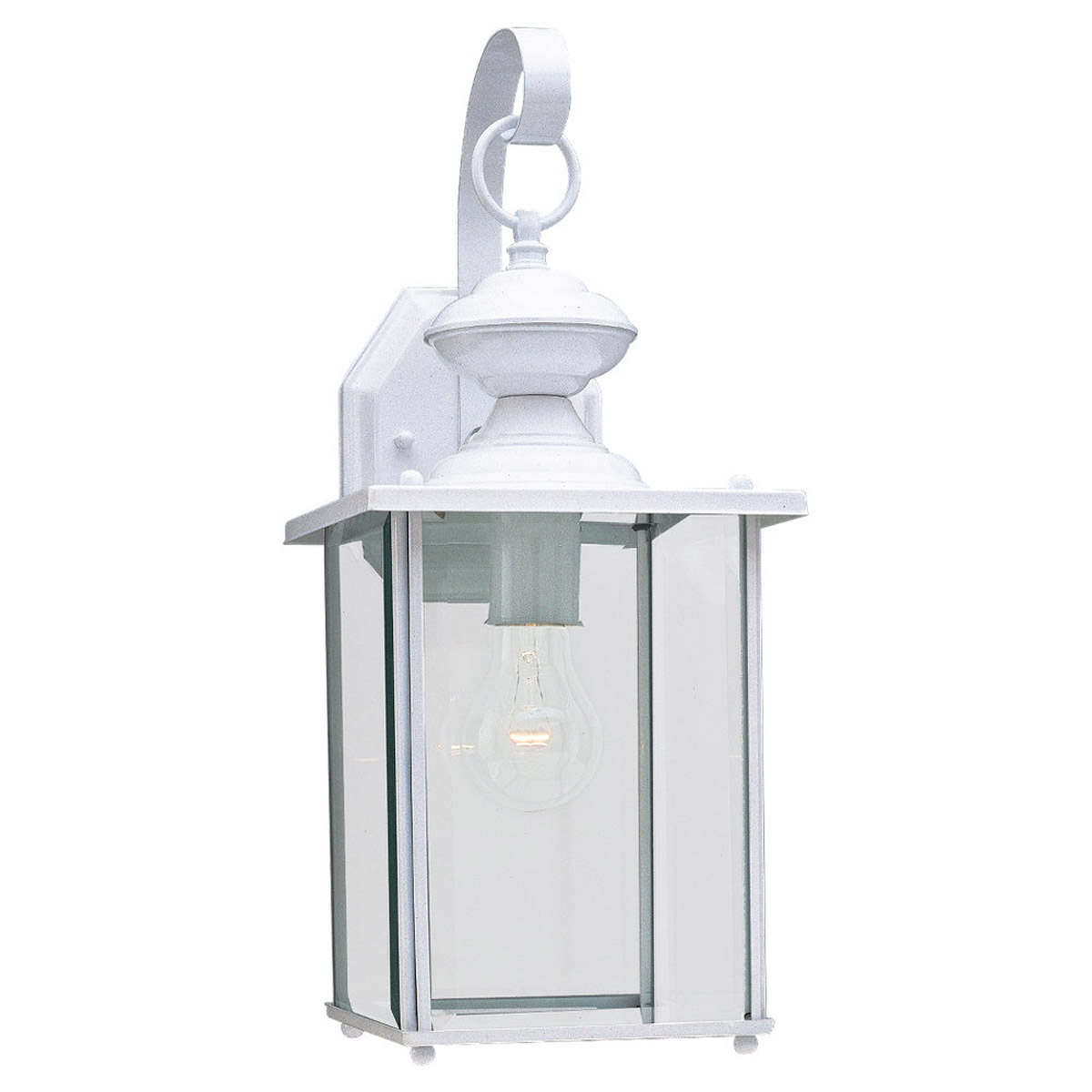 Sea Gull Lighting Jamestowne 1 Light Outdoor Wall Lantern in White 8458-15