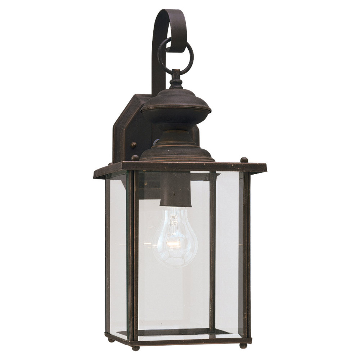 Sea Gull Lighting Jamestowne 1 Light Outdoor Wall Lantern in Antique Bronze 8458-71