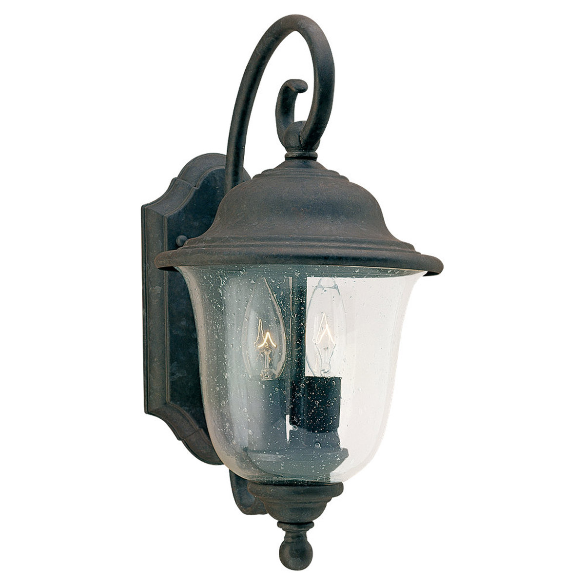 Sea Gull Lighting Trafalgar 2 Light Outdoor Wall Lantern in Oxidized Bronze 8459-46