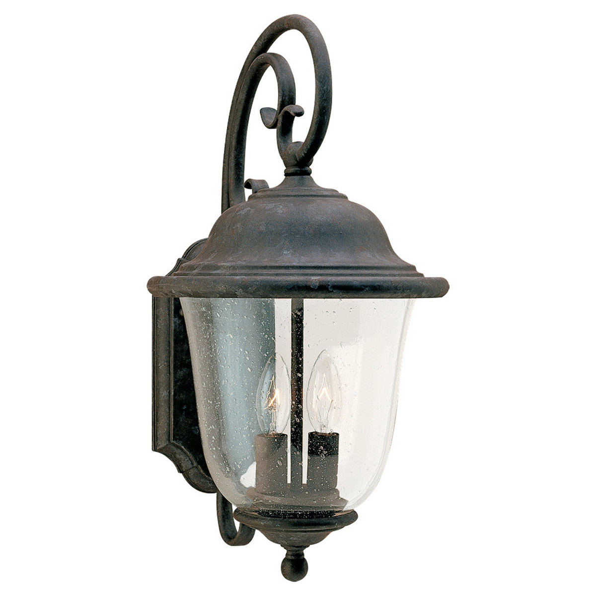 Sea Gull Lighting Trafalgar 2 Light Outdoor Wall Lantern in Oxidized Bronze 8460-46