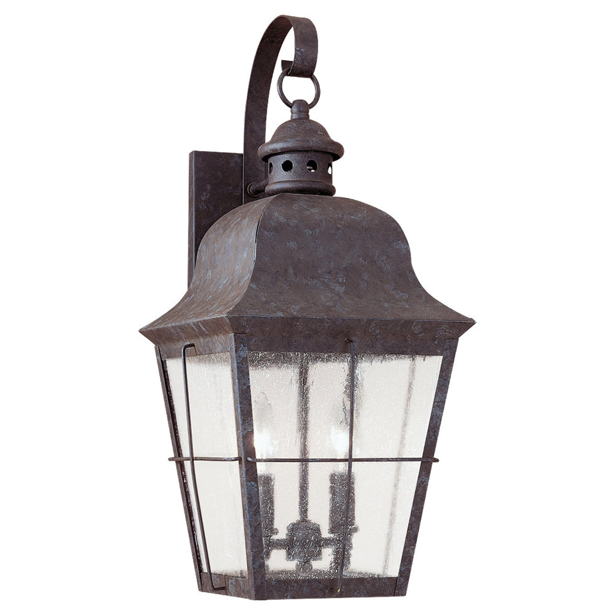 Sea Gull 8463-46 Chatham 2 Light 21 inch Oxidized Bronze Outdoor Wall Lantern in Clear Seeded Glass photo