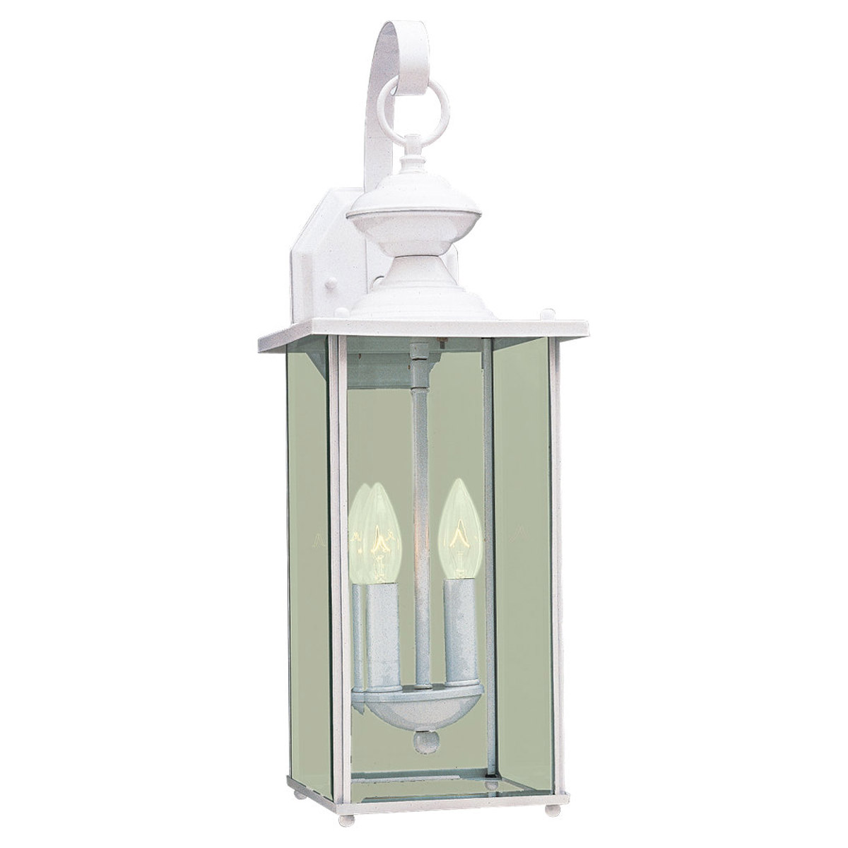 Sea Gull Lighting Jamestowne 2 Light Outdoor Wall Lantern in White 8468-15
