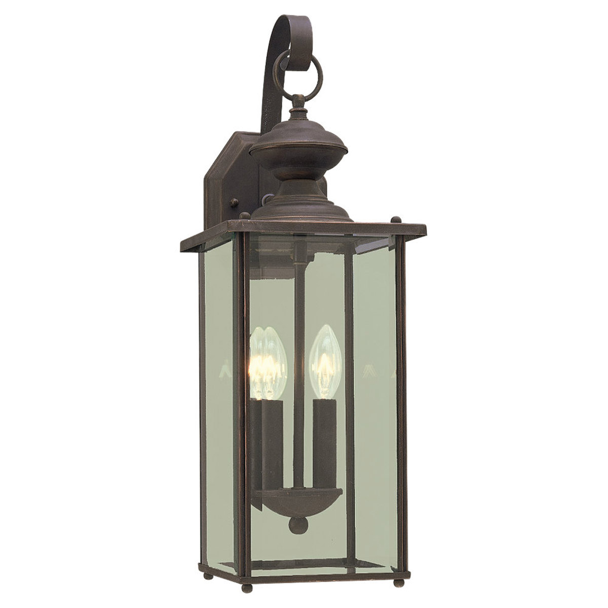 Sea Gull Lighting Jamestowne 2 Light Outdoor Wall Lantern in Antique Bronze 8468-71