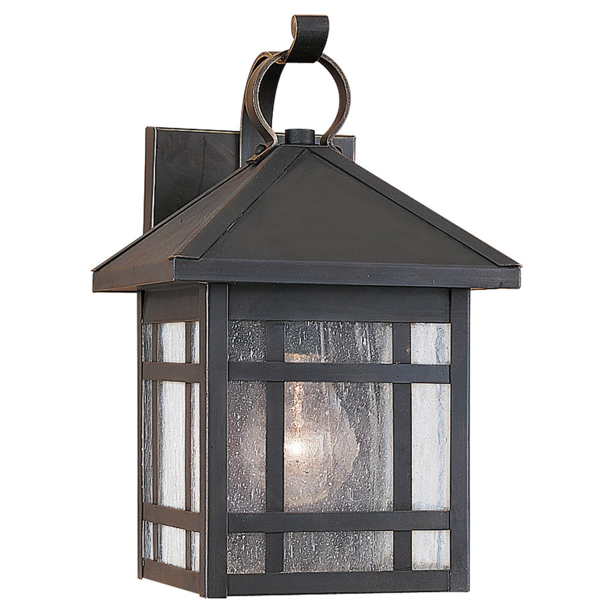 Sea Gull 85008-71 Largo 1 Light 11 inch Antique Bronze Outdoor Wall Lantern photo